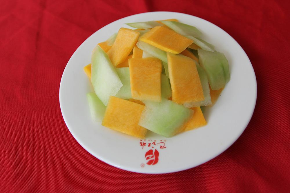 菜品小吃南瓜冬瓜片